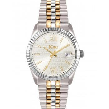 JCOU Queen's II - JU19038-5, Silver case with Stainless Steel Bracelet
