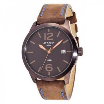 JET SET Milan - J6380BR-736 Brown case, with Brown Leather Strap