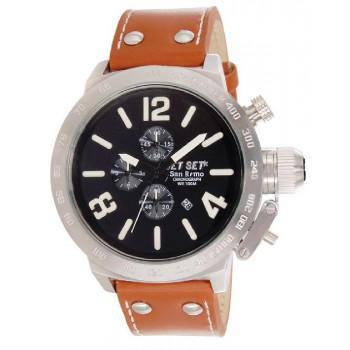 JET SET San Remo - J12423-266 Silver case, with Orange Leather Strap