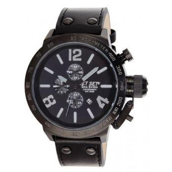 JET SET San Remo - J1242B-267 Black case, with Black Leather Strap