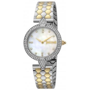 Just CAVALLI Glam Chic - JC1L159M0085,  Silver case with Stainless Steel Bracelet