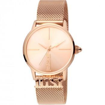 Just CAVALLI Logo Base - JC1L078M0035  Rose Gold case with Stainless Steel Bracelet