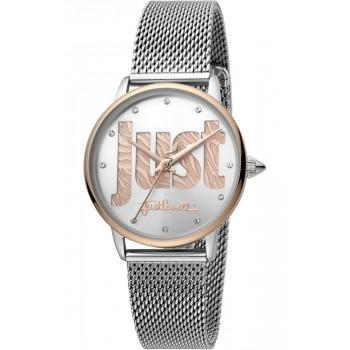Just CAVALLI Logo Crystals - JC1L116M0105  Silver case with Stainless Steel Bracelet