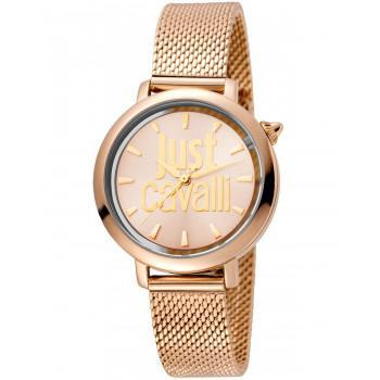 Just CAVALLI Logo  - JC1L007M0075  Rose Gold case with Stainless Steel Bracelet