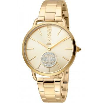 Just CAVALLI Logo - JC1L117M0065  Gold case with Stainless Steel Bracelet