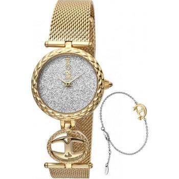 Just CAVALLI Mini Gift Set - JC1L103M0105  Gold case with Stainless Steel Bracelet