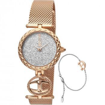 Just CAVALLI Mini Gift Set - JC1L103M0115  Rose Gold case with Stainless Steel Bracelet