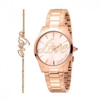 Just CAVALLI Relaxed Gift Set- JC1L010M0255  Rose Gold case with Stainless Steel Bracelet
