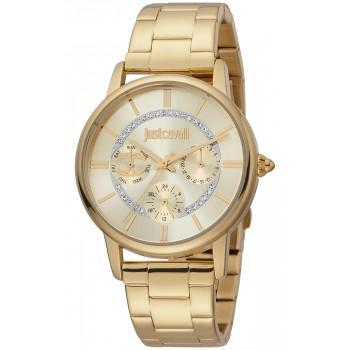 Just CAVALLI XL Crystals  - JC1L157M0065  Gold case with Stainless Steel Bracelet