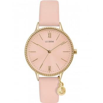 LE DOM  Anchor Lady - LD.1261-4,  Gold case with Pink Leather Strap