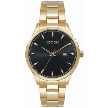 LE DOM Dixon - LD.1105-5, Gold case with Stainless Steel Bracelet