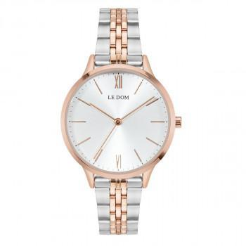 LE DOM Essence  - LD.1275-1, Rose Gold case with Stainless Steel Bracelet