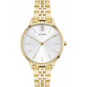 LE DOM Essence  - LD.1275-6, Gold case with Stainless Steel Bracelet