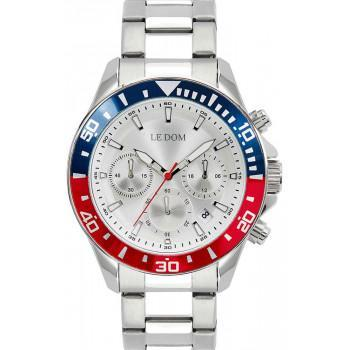 LE DOM Eternal Chronograph - LD.1481-4, Silver case with Stainless Steel Bracelet
