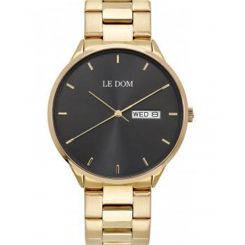 LE DOM Maxim - LD.1435-3, Gold case with Stainless Steel Bracelet