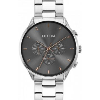 LE DOM Principal Chronograph - LD.1436-10, Silver case with Stainless Steel Bracelet