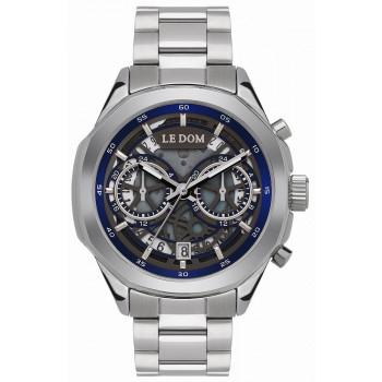 LE DOM Skeleton - LD.1095-4, Silver case with Stainless Steel Bracelet