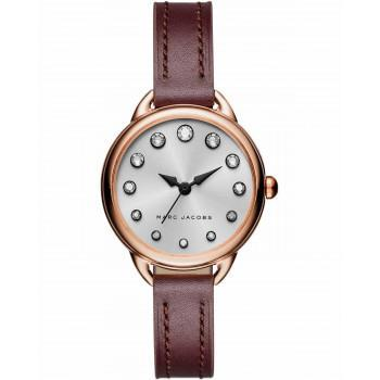 MARC JACOBS Betty - MJ1481, Rose Gold case with Bordeuax Leather Strap