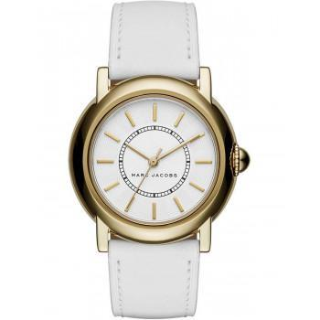 MARC JACOBS Courtney - MJ1449, Gold case with White Leather Strap