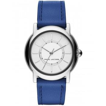 MARC JACOBS Courtney - MJ1451, Silver case with Blue Leather Strap