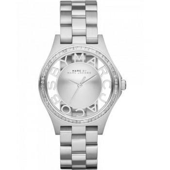 MARC BY MARC JACOBS Henry Glitz - MBM3337,  Silver case with Stainless Steel Bracelet