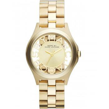 MARC BY MARC JACOBS Henry Skeleton  - MBM3292,  Gold case with Stainless Steel Bracelet
