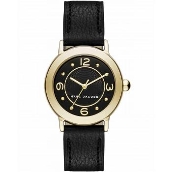 MARC JACOBS Riley - MJ1475, Gold case with Black Leather Strap