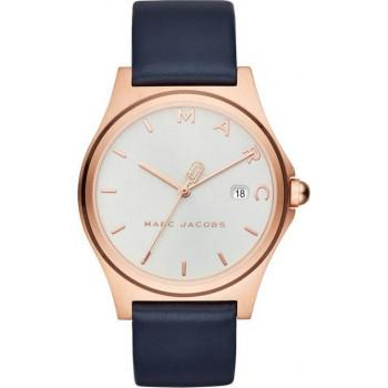 MARC JACOBS Henry  - MJ1609,  Rose Gold case with Blue Leather Strap