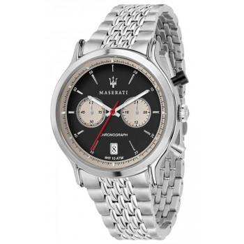 MASERATI Legend Chronograph - R8873638001  Silver case with Stainless Steel Bracelet