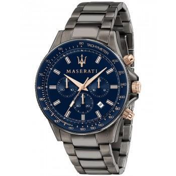 MASERATI Sfida - R8873640001  Grey case with Stainless Steel Bracelet