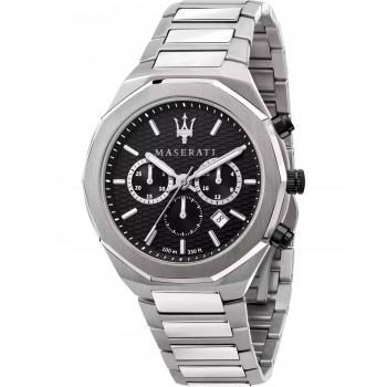 MASERATI Stile Chronograph - R8873642004  Silver case with Stainless Steel Bracelet