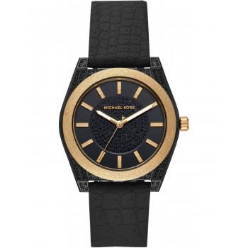 MICHAEL KORS Channing - MK6703,  Black case with Black Rubber Strap