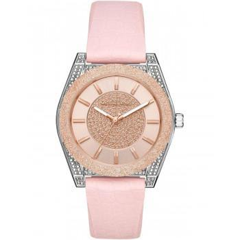 MICHAEL KORS Channing - MK6704,  Silver case with Pink Rubber Strap