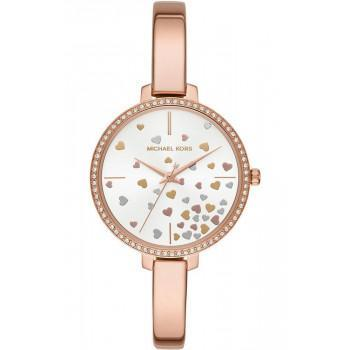 MICHAEL KORS Jaryn Crystals - MK3978,  Rose Gold case with Stainless Steel Bracelet