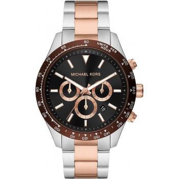 MICHAEL KORS Layton Chronograph - MK8913,  Silver case with Stainless Steel Bracelet