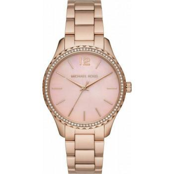 MICHAEL KORS Layton Crystals - MK6848, Rose Gold case with Stainless Steel Bracelet