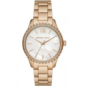MICHAEL KORS Layton Crystals - MK6870,  Rose Gold case with Stainless Steel Bracelet