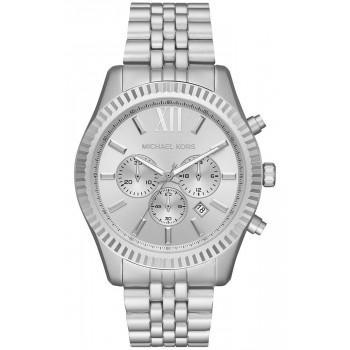 MICHAEL KORS Lexington Chronograph - MK8789,  Silver case with Stainless Steel Bracelet