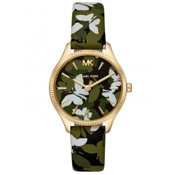 MICHAEL KORS Lexington  - MK2811,  Gold case with Multicolor Leather Strap