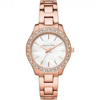 MICHAEL KORS Liliane Crystals - MK4557, Rose Gold case with Stainless Steel Bracelet