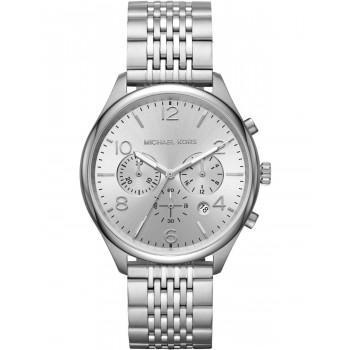 MICHAEL KORS Merrick  Men's Chronograph - MK8637,  Silver case with Stainless Steel Bracelet