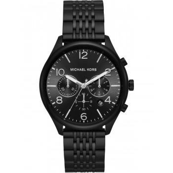 MICHAEL KORS Merrick  Men's Chronograph - MK8640,  Black case with Stainless Steel Bracelet
