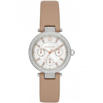 MICHAEL KORS Parker - MK2913, Silver case with Brown Leather Strap