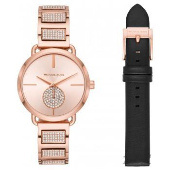 MICHAEL KORS Portia Crystals Gift Set - MK2776,  Rose Gold case with Stainless Steel Bracelet