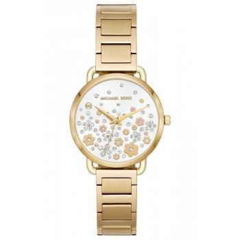 MICHAEL KORS Portia Crystals - MK3840, Gold case with Stainless Steel Bracelet