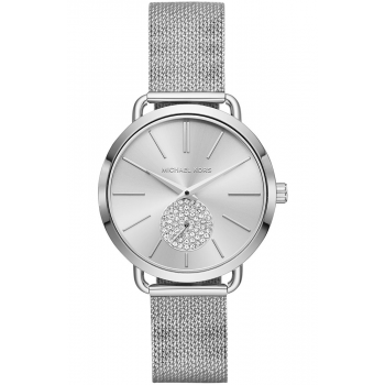 MICHAEL KORS Portia Crystals - MK3843, Silver case with Stainless Steel Bracelet