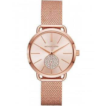 MICHAEL KORS Portia Crystals - MK3845, Rose Gold case with Stainless Steel Bracelet