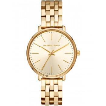MICHAEL KORS Pyper Crystals - MK3898,  Gold case with Stainless Steel Bracelet