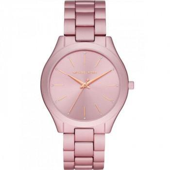 MICHAEL KORS Slim Runway - MK4456, Pink case with Stainless Steel Bracelet
