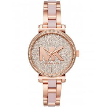 MICHAEL KORS Sofie Crystals - MK4336,  Rose Gold case with Stainless Steel Bracelet